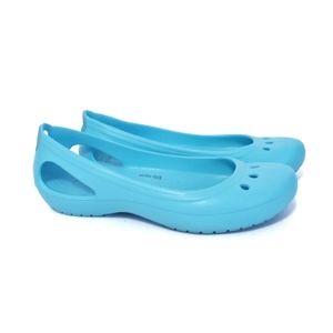 Crocs Kadee Teal Work Ballet Flat Lightweight